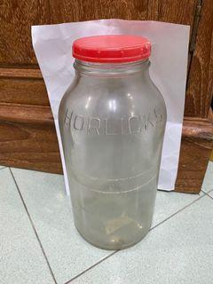 Horlicks glass bottle