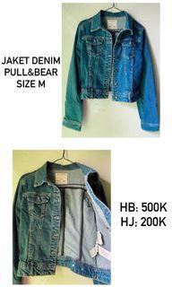 Jaket Jeans denim pull & bear ori