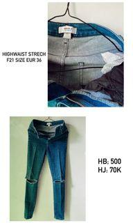 jeans highwaist F21 forever21