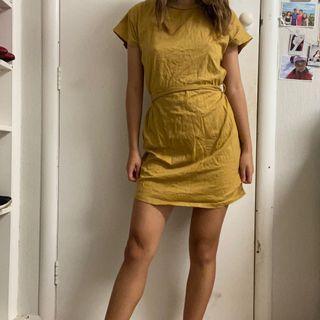 Mustard yellow casual dress