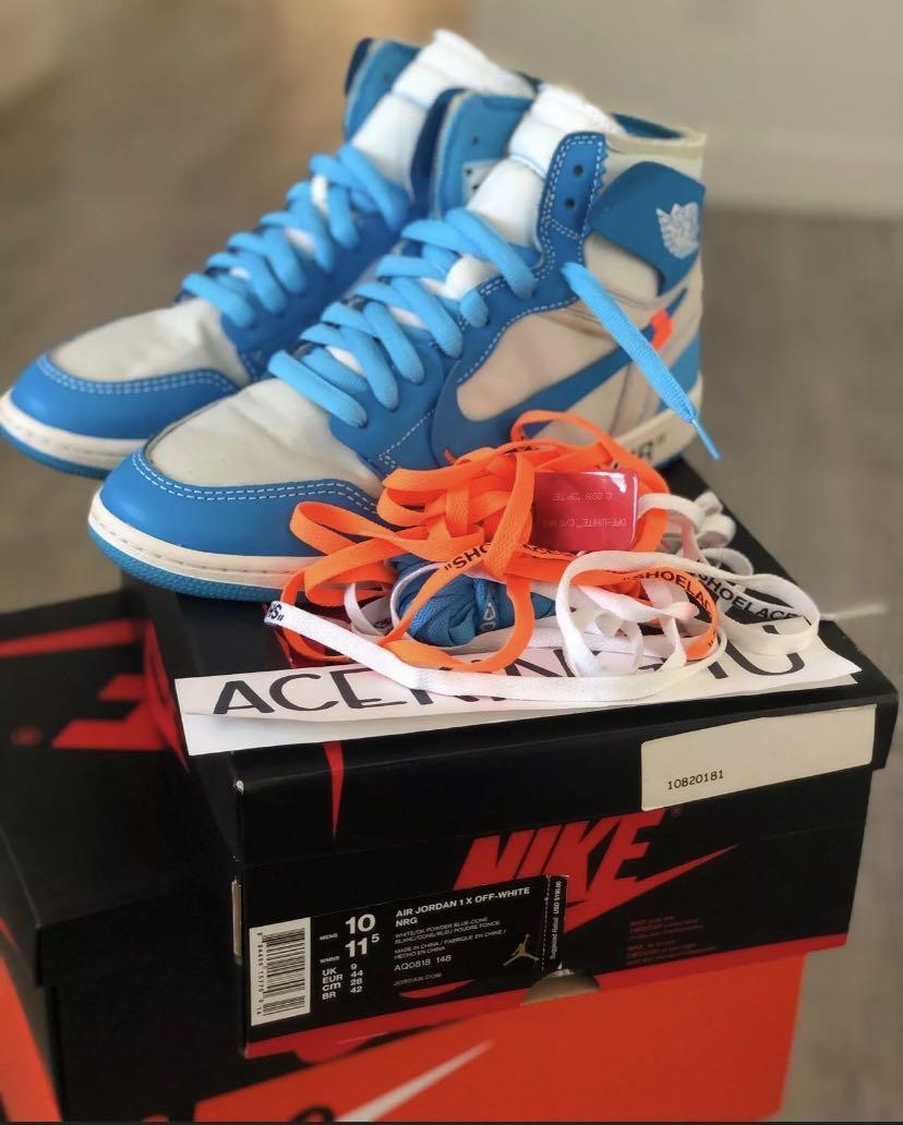 Off white Jordan's for sale