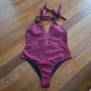 Pearly Pop Maroon One Piece Swimsuit