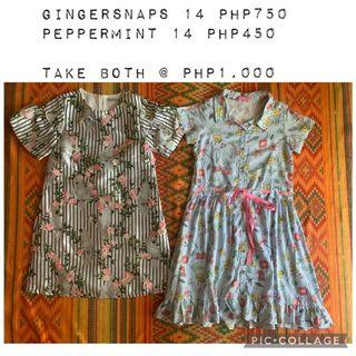 Preloved gingersnaps peppermint dresses size 14