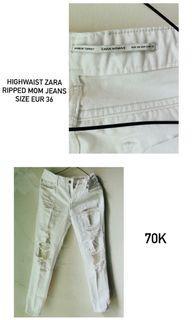 Ripped Jeans highwaist ZARA