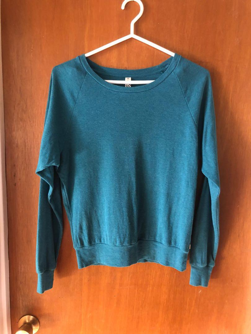 TNA teal pullover sweater size small