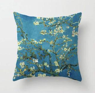 油畫風Van Gogh almond flowers cushion cover梵高杏花雙面咕𠱸套