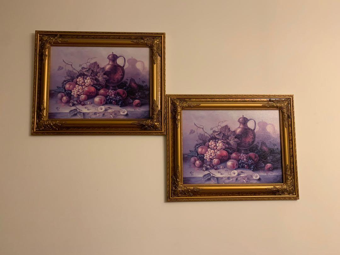 Wall painting - set of two
