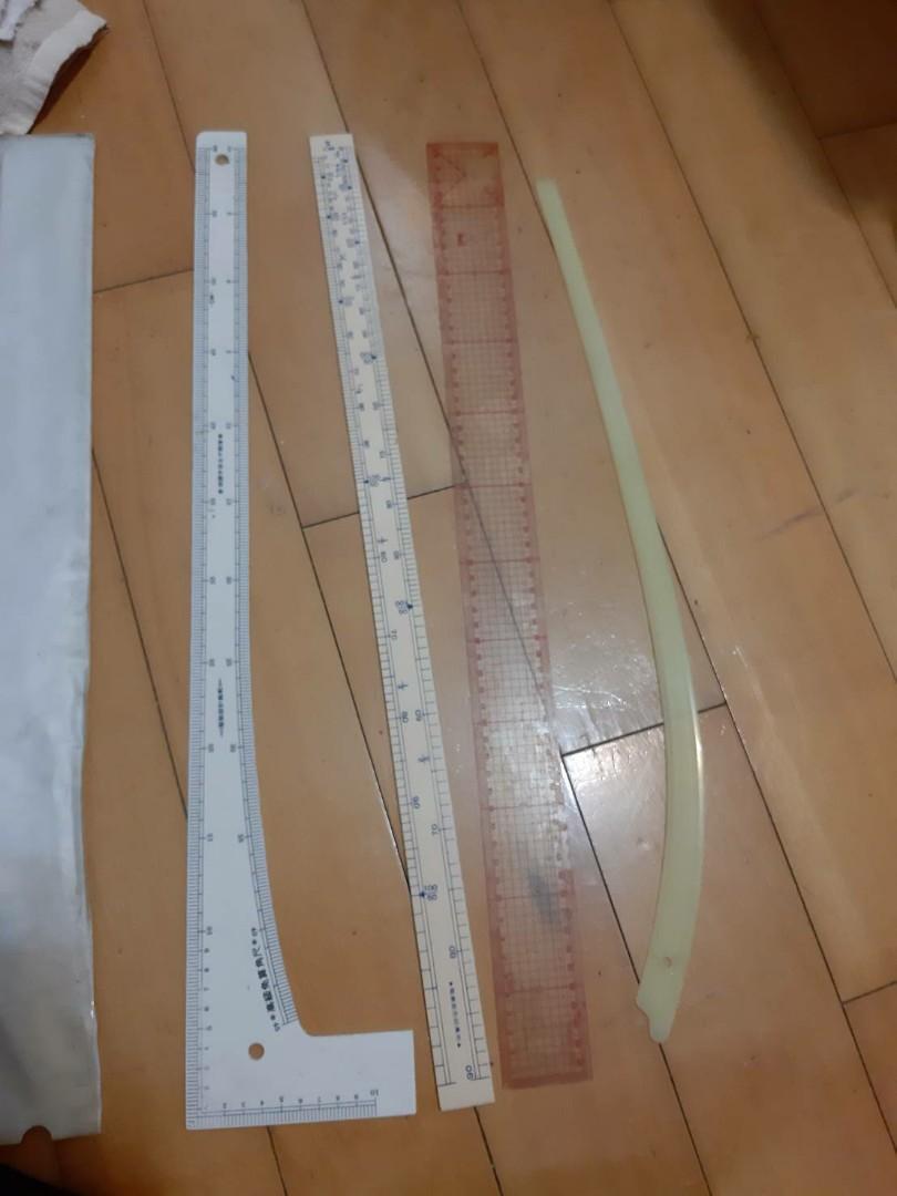 五支合售/服裝設計用腳尺/裁縫師專用直尺