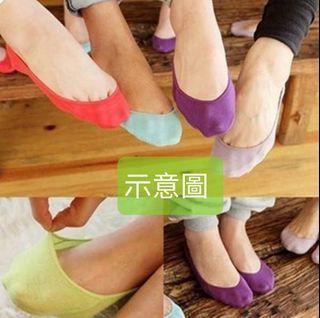 不議價_紅色隱形襪(只有紅色) 魔術襪 船形襪 母子襪 13~26cm 後跟矽膠防滑《二手天堂A20》
