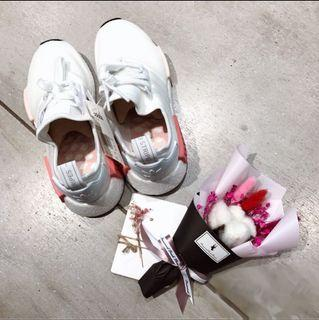 Adidas nmd乾燥玫瑰粉運動鞋us9.5(大尺碼26.5-26可穿)