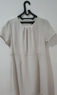 Dress putih bigsize merk Eprise XXL