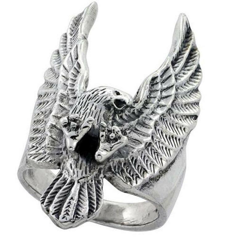 Men's Eagle Biker Ring