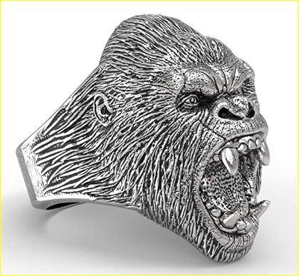 Men's Gorilla Biker Ring