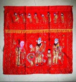 vintage Peranakan tok wi Altar cloth