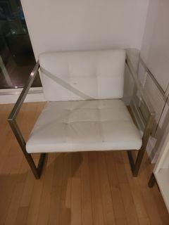 2 White Chairs