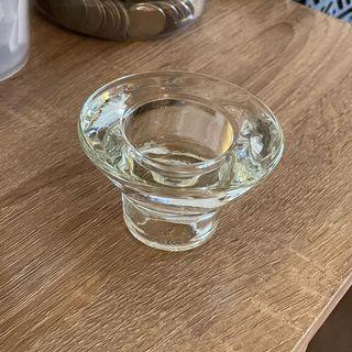 透明玻璃蠟燭燭台