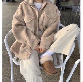 正韓 AMISSA 前大口袋 熊寶寶 外套 襯衫