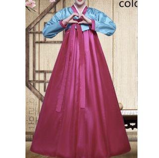 韓服 韓國傳統宮廷服cosplay 萬聖節變裝 含頭飾