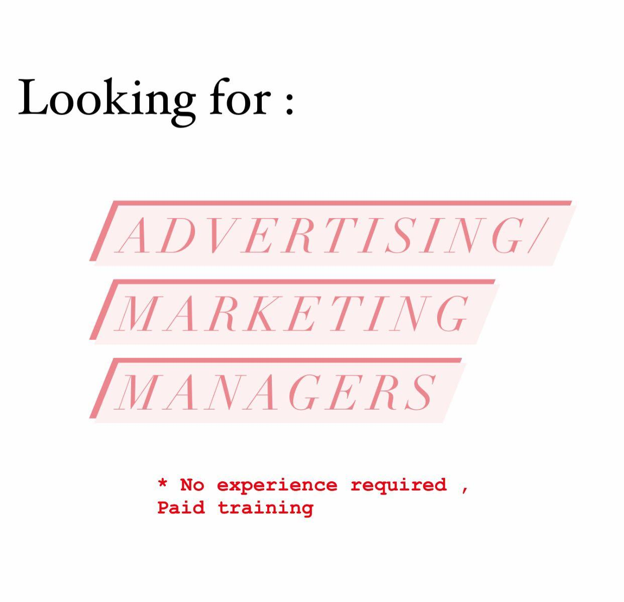 Advertising and marketing managers