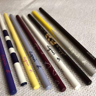 agnes b.精品絕版鉛筆 一組9入 款式各一