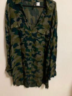 Camouflage long sleeve army top
