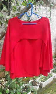 Cape top merah