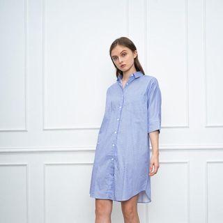 Clemence blue stripe dress