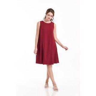 Cotton tree red dress