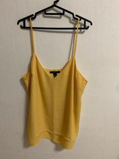 Forever 21 yellow spaghetti top