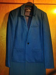 Initial wool blazer