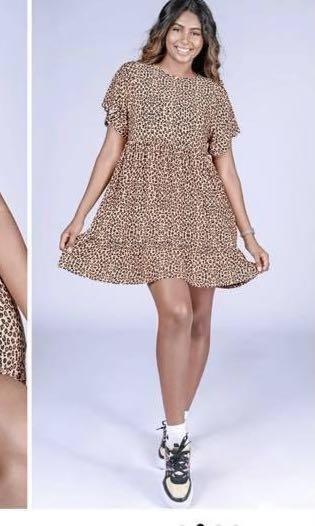 Jag print dress
