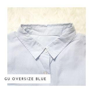 Kemeja GU Oversize Biru