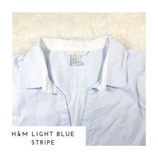 Kemeja H&M Salur Biru