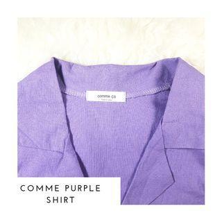 Kemeja Lilac Comme