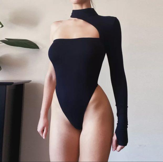 Off the shoulder body suit