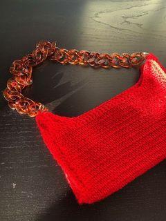 RED BAGUETTE BAG