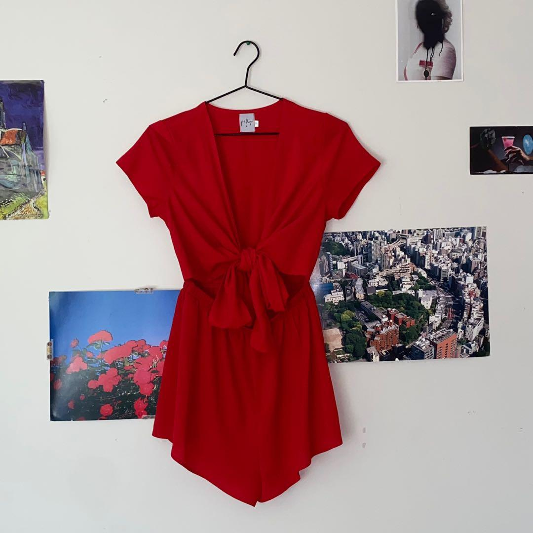 Princess Polly Red Playsuit