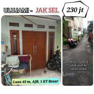 Rumah Luas 43m 230jt  di Ulujami Jak Sel