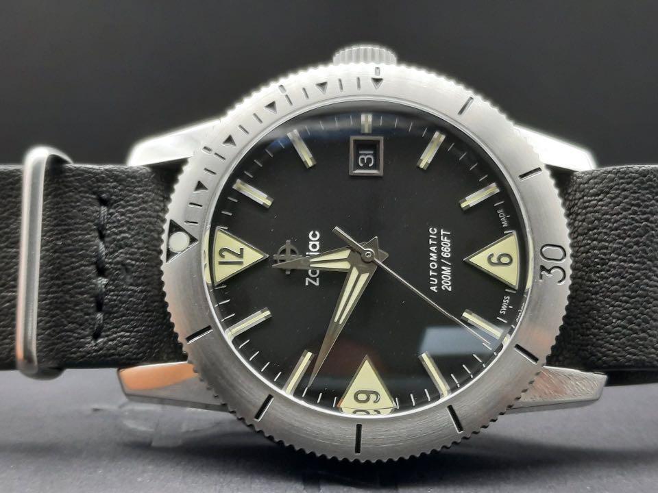 Zodiac Super Sea Wolf 39mm Swiss Diver Watch