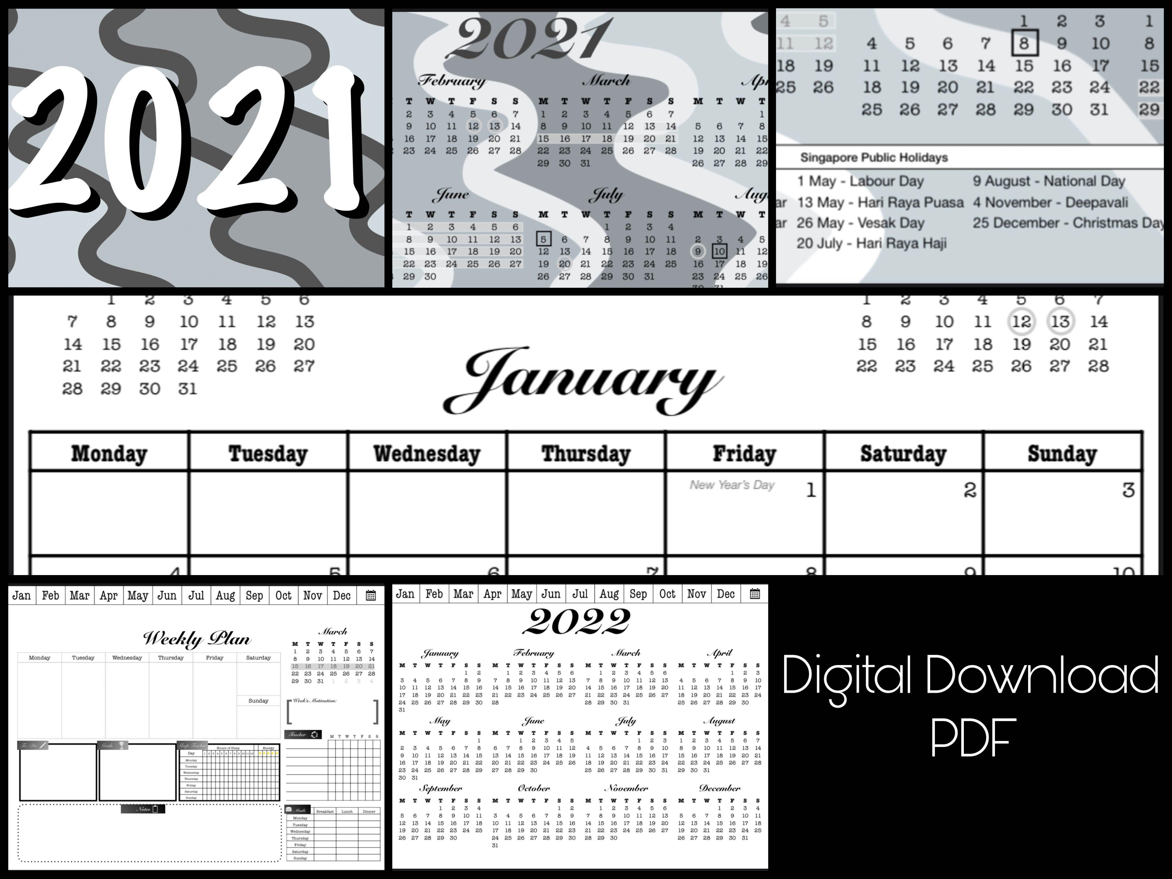32 Digital Planner  Monthly & Weekly Planner. Hyperlinked Planner,  GoodNotes, Notability, Samsung Notes etc.