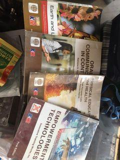 4  SENIOR HIGH SCHOOL BOOKS  moving out sale!