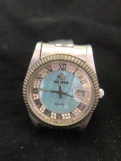 石英蠔式錶 自行更換電池 功能正常便宜賣