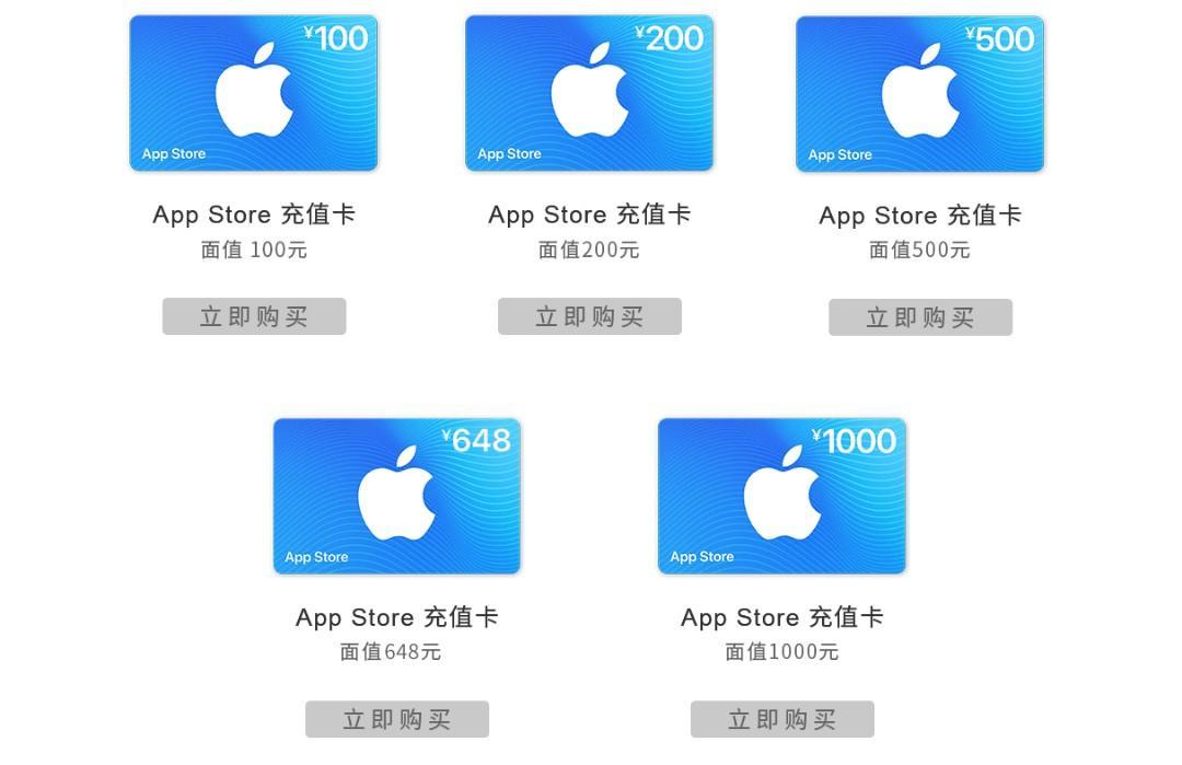 中國 iTunes 禮品卡 充值