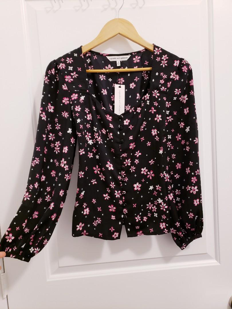 BNWT Cupcakes and Cashmere Blouse Sweetheart - Size S