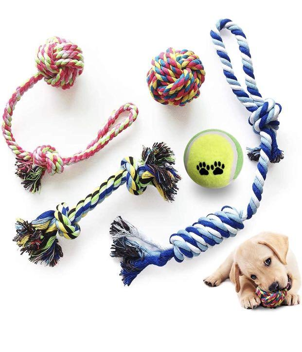 Brand new Dog Cotton Rope Toys (with Ball), Safe and Harmless, Suitable for Small and Medium-Sized D