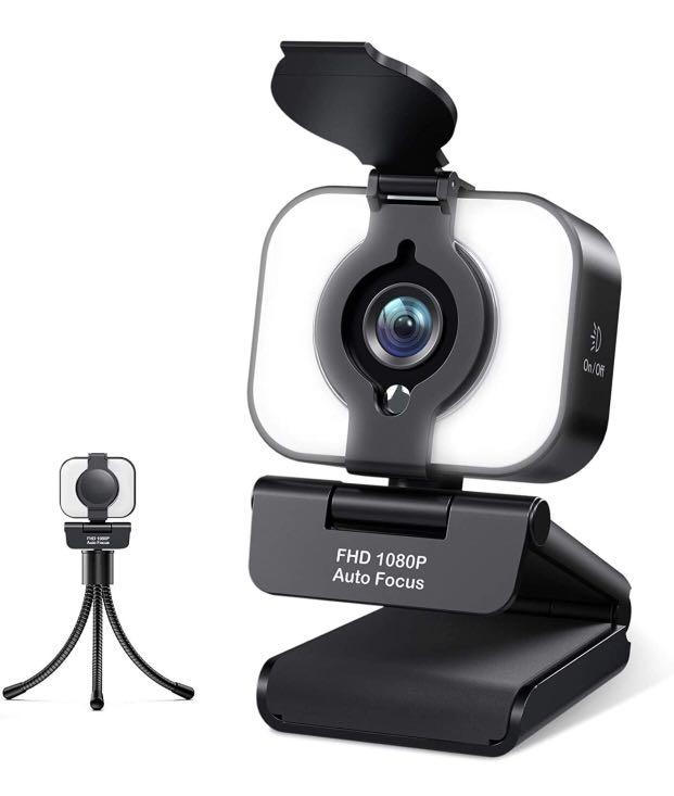 Brand new Streaming Webcam with Tripod 1080P Web camera with Ring Light