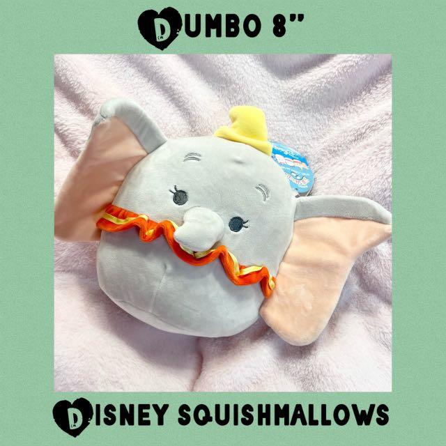 "Disney Squishmallows Dumbo Elephant 8"" Plush Squishie"