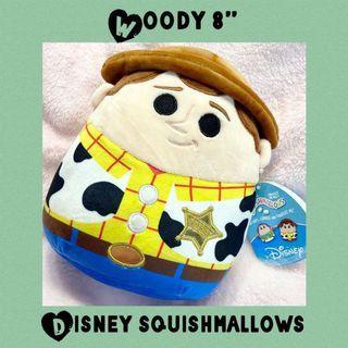 "Disney Squishmallows Woody Toy Story Cowboy 8"" Plush"
