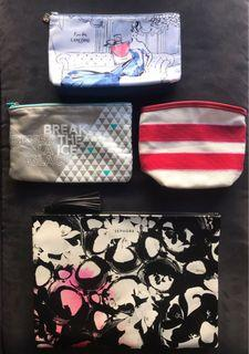 EUC Sephora / Lancôme / shiseido / biotherm make up bag / pouch  ($8 for all)