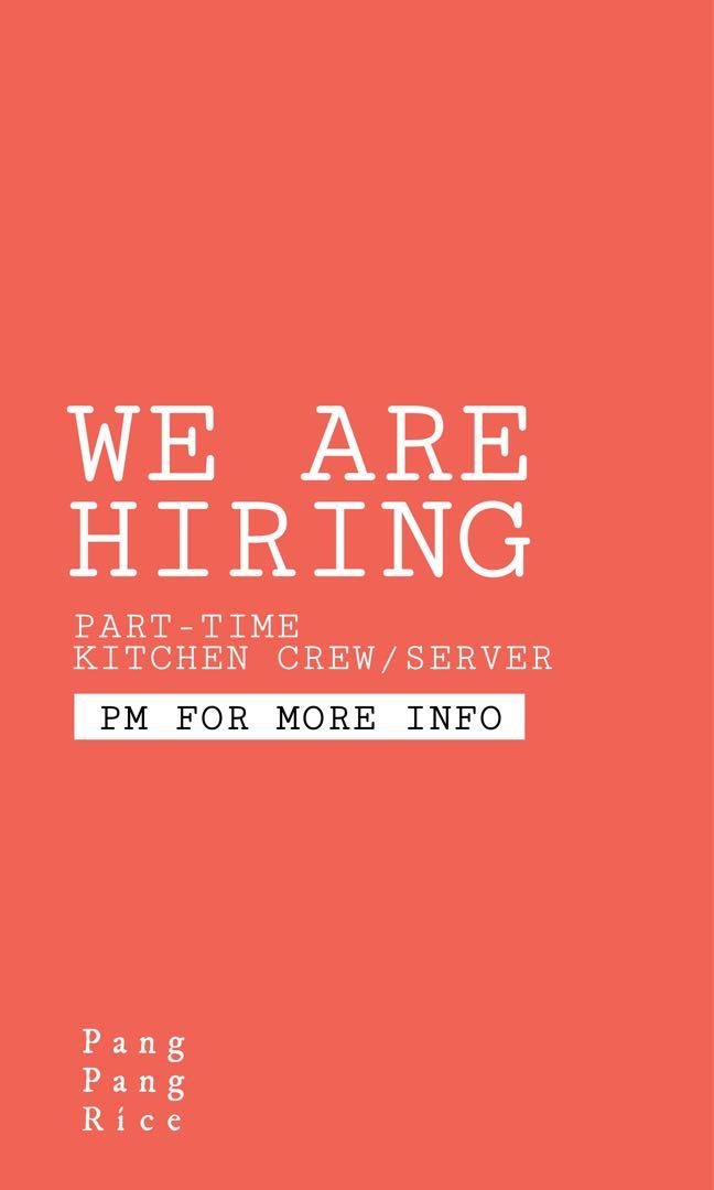 Looking for part time/ full time kitchen assistant